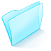 72x72px size png icon of folder blue normal