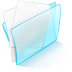 72x72px size png icon of folder blue paper