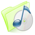 72x72px size png icon of folder green music