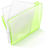 72x72px size png icon of folder green paper