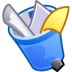 72x72px size png icon of Trash full