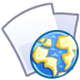 72x72px size png icon of Web file