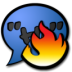 72x72px size png icon of chat hot