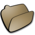 72x72px size png icon of folder brown open
