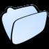 72x72px size png icon of folder lightblue