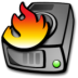 72x72px size png icon of harddrive burning