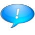 72x72px size png icon of Chat bleu