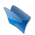 72x72px size png icon of Dossier bleu