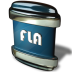 72x72px size png icon of File FLA