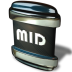 72x72px size png icon of File MID