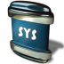 72x72px size png icon of File SYS