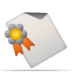 72x72px size png icon of document seal