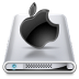 72x72px size png icon of Drives Apple