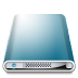 72x72px size png icon of Drives Colours Blue