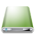 72x72px size png icon of Drives Colours Dark Green
