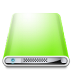 72x72px size png icon of Drives Colours Light Green