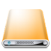 72x72px size png icon of Drives Colours Orange