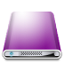 72x72px size png icon of Drives Colours Purple