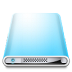 72x72px size png icon of Drives Colours Sky Blue