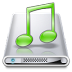 72x72px size png icon of Drives Music