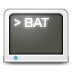 72x72px size png icon of Mimetypes bat