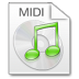 72x72px size png icon of Mimetypes midi