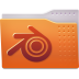 72x72px size png icon of Places folder blender