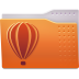 72x72px size png icon of Places folder coreldraw