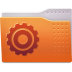 72x72px size png icon of Places folder system
