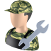 72x72px size png icon of Serviceman
