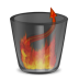 72x72px size png icon of HellLess TrashFull