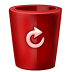 72x72px size png icon of bin red full
