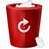 72x72px size png icon of bin red