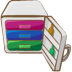 72x72px size png icon of archive white