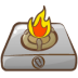 72x72px size png icon of cooker fire