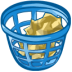 72x72px size png icon of trash basket full