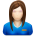 72x72px size png icon of user female