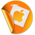 72x72px size png icon of apple sticker
