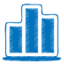 72x72px size png icon of blue chart