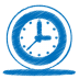 72x72px size png icon of blue clock