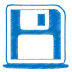 72x72px size png icon of blue disk