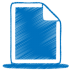 72x72px size png icon of blue document