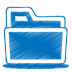 72x72px size png icon of blue folder