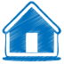 72x72px size png icon of blue home