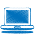 72x72px size png icon of blue laptop