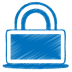 72x72px size png icon of blue lock