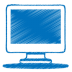 72x72px size png icon of blue monitor