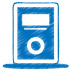 72x72px size png icon of blue mp3 player