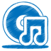 72x72px size png icon of blue music cd