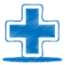 72x72px size png icon of blue plus